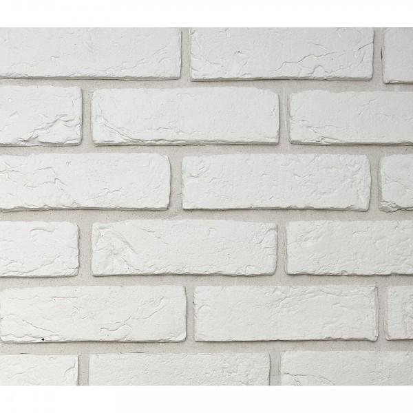 камень интерьерный гипсовый кирпич 21,5*6,5 белый 400
