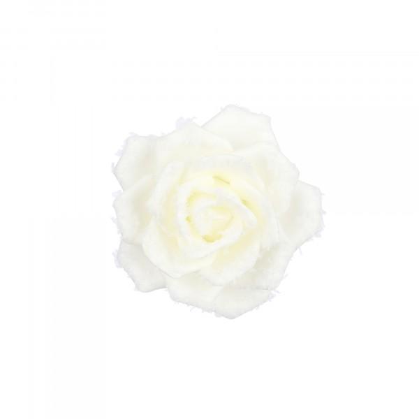 декор-клипса роза 5*14см house of seasons кремовый 84343