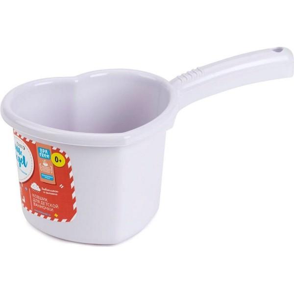 ковшик для детской ванночки 1.5л start little angel пластик серо-сиреневый la1022срн