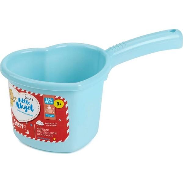 ковшик для детской ванночки 1.5л start little angel пластик голубой пастельный la1022bl