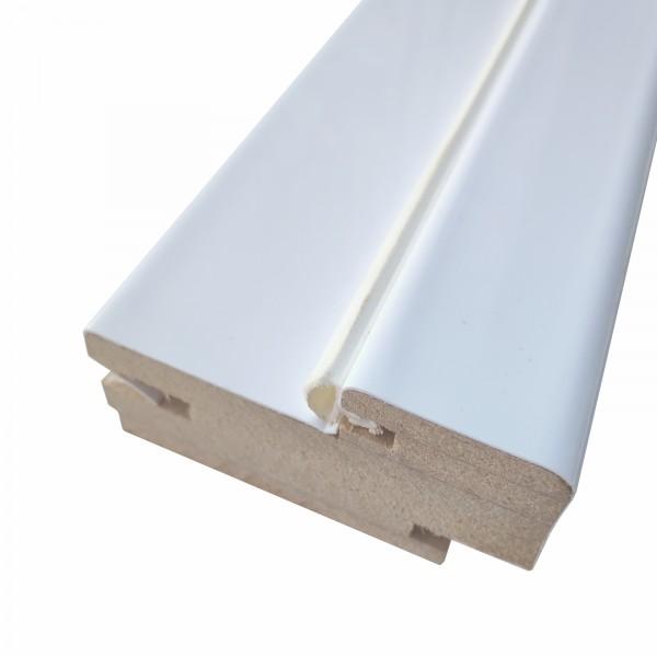 коробочный брус плоский,пвх 2100х70х32мм,белый бархат