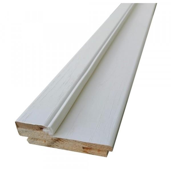 коробочный брус плоский,пвх 2050х690х28мм,белый ясень