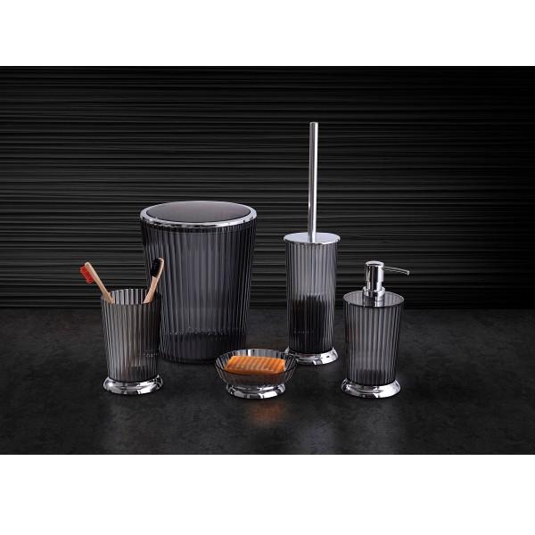 Фото - дозатор для жидкого мыла nely primanova пластик, прозрачно-черный m-sa18-25 дозатор primanova lenox для жидкого мыла черный 0 3 мл
