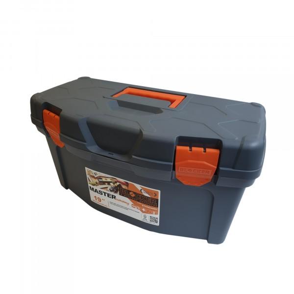 ящик для инструментов master economy 19 чёрный/оранжевый недорого