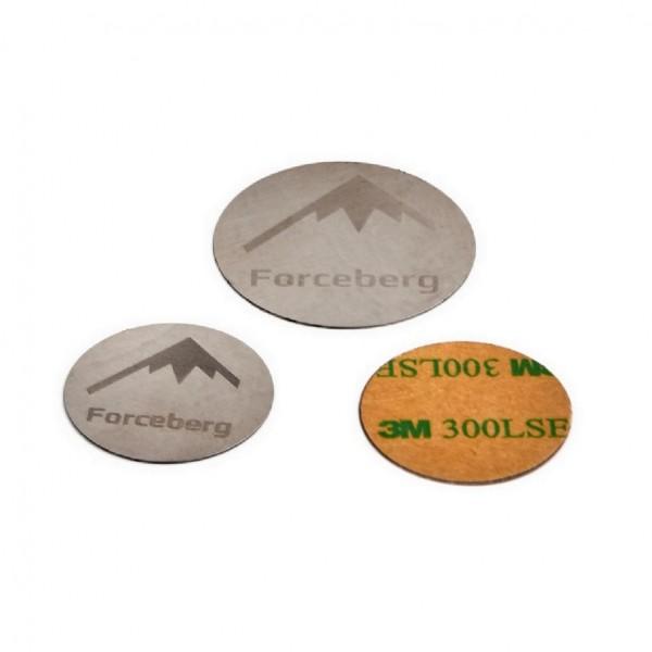 набор пластин для магнитных держателей телефонов (30мм-2шт, 40мм-1шт.), forceberg 9-5212250