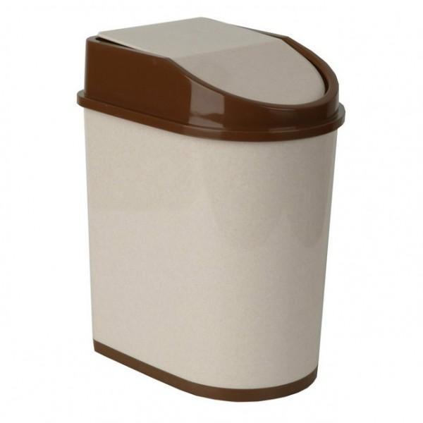 контейнер для мусора 8л беж. мрамор