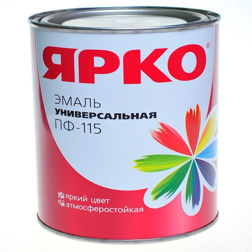 эмаль ярко пф-115 1,9кг черная /ярославль/