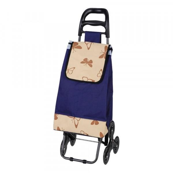 тележка с сумкой а204 бабочки, 30кг, колеса тройные 093551