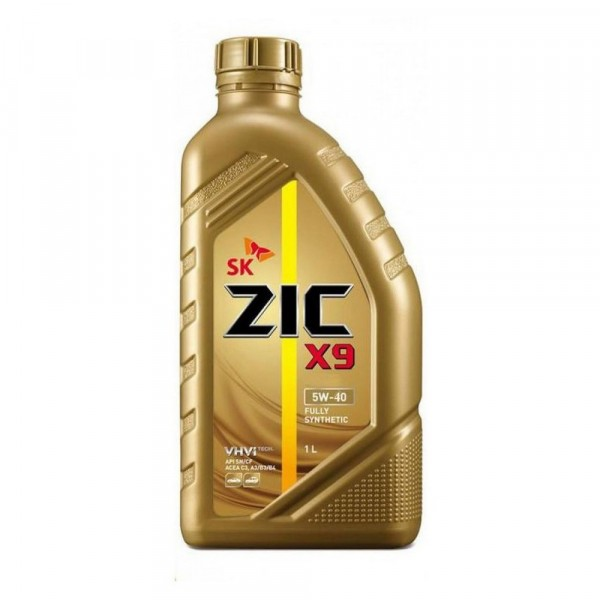 масло моторное 5w40 1л синтетическое zic x9 5w40 sm/cf 132613