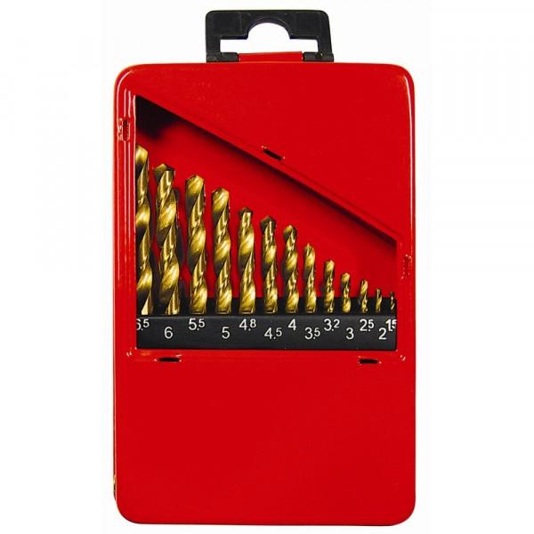 набор сверл по металлу 13шт 1,5-6,5мм hss нитридтитан. matrix 72386