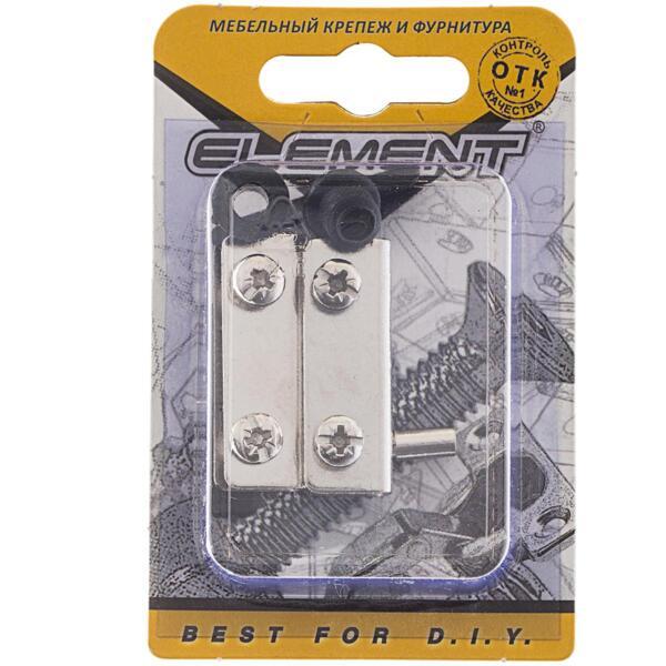 петли для стеклянных дверей, хром, комплект element 115050