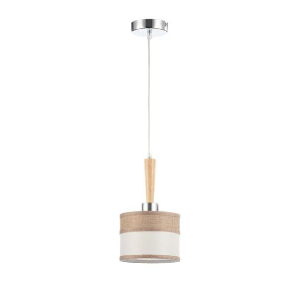 светильник подвесной freya helen fr5329-pl-01-ch е27 1x40вт ip 20 хром