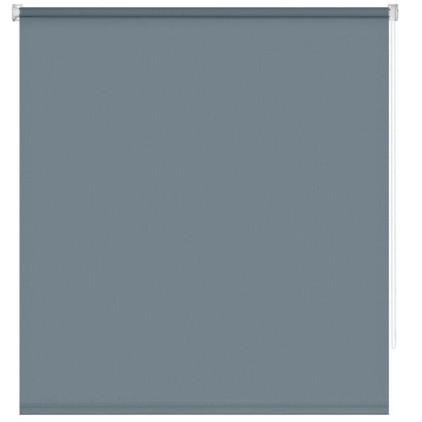 штора рулонная мини синяя сталь 60х160