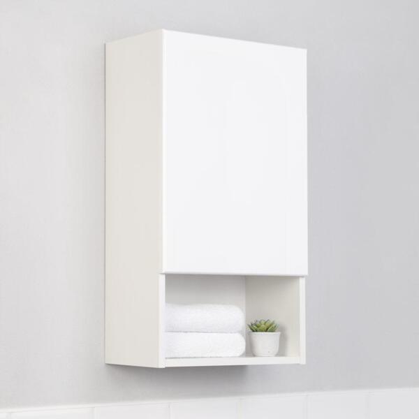 Фото - шкаф подвесной ika уют 40 белый глянец тумба подвесная ika style 100 белый глянец