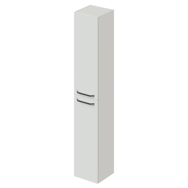 пенал подвесной/напольный итана white 30 300х300х1700 с бельевой корзиной (белый глянец)