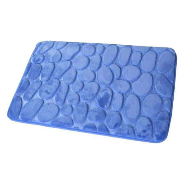 коврик для ванной 40х60см камушки 3d aquarius синий 59 487