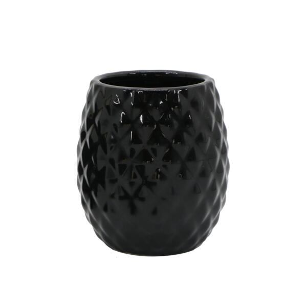 стакан для зубных щеток master house фарфор черный 60704