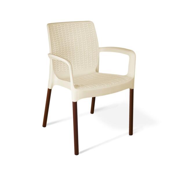 стул sheffilton sht-st68/s424 бежевый/коричневый муар пластик/металл (ps)