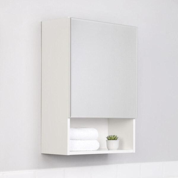 Фото - шкаф-зеркало ika уют 50 белый глянец тумба подвесная ika style 100 белый глянец