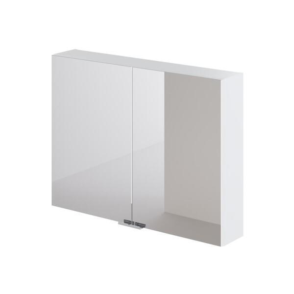 Фото - зеркальный шкаф ika style 80 800х150х600 (белый глянец) тумба подвесная ika style 100 белый глянец