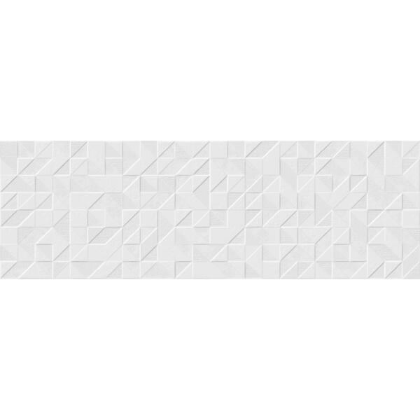 плитка настенная origami blanco белый 25x75 913139