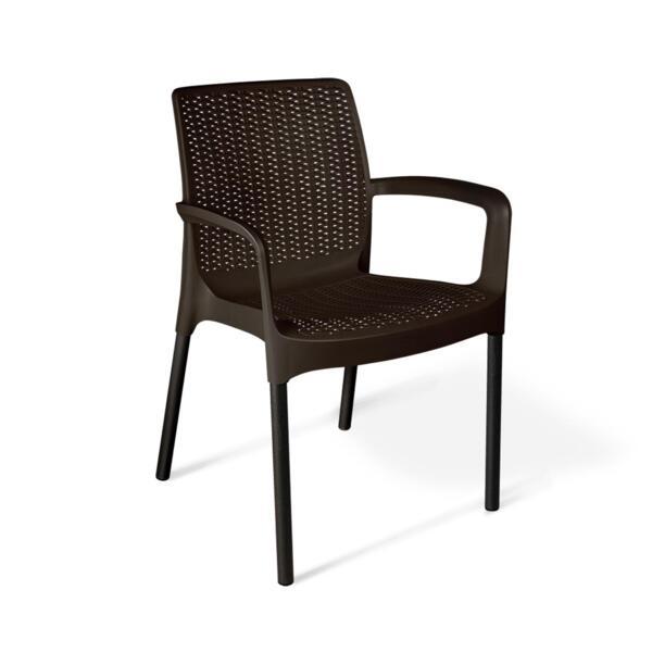 стул sheffilton sht-st68/s424 черно-коричневый/черный муар пластик/металл (ps)