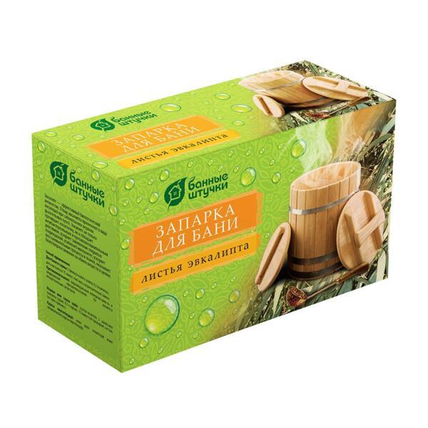 Фото - запарка для бани листья эвкалипта, 20 фильтр-пакетов 1,5 г банные штучки запарка для бани в мешочке 30гр душица банные штучки 20