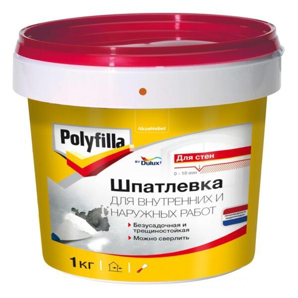 шпатлевка polyfilla для внутренних и наружных работ 1кг