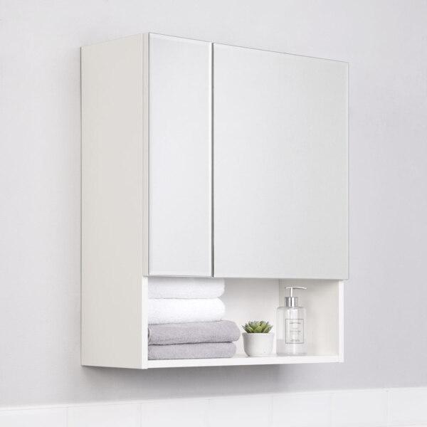Фото - шкаф-зеркало ika уют 60 белый глянец тумба подвесная ika style 100 белый глянец