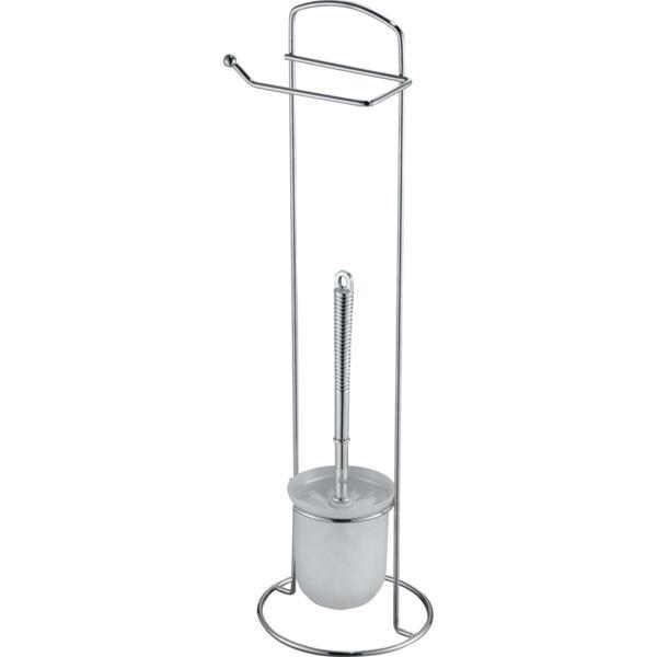 стойка напольная с держателем для туалетной бумаги и ершиком
