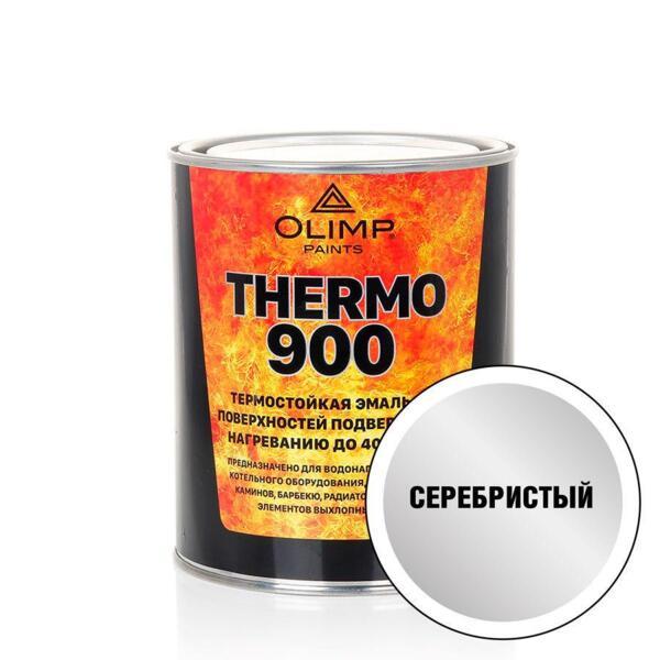 эмаль термостойкая olimp 700°с серебристая 0,8л