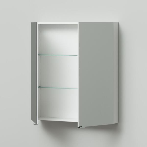 Фото - зеркальный шкаф ika style 80 800х150х900 (белый глянец) тумба подвесная ika style 100 белый глянец