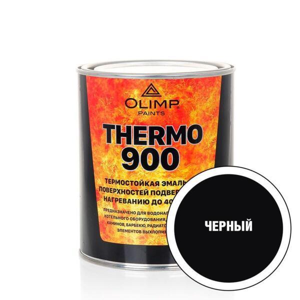 эмаль термостойкая olimp 800°с черная 0,8л