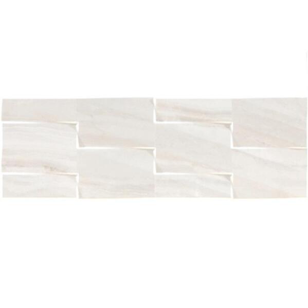 плитка настенная lira prisma 25*75 белый 51083
